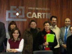 Alcuni dei ricercatori impegnati nel progetto Whetlac presso la sede della Cartif di Valladolid