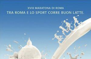 Una delle ultime affissioni media della Centrale del Latte di Roma, per la maratona che si è svolta nella capitale domenica scorsa