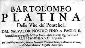 """De honesta voluptate et valetudine"" di Bartolomeo Sacchi, detto Platina"