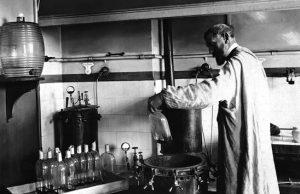 Louis Pasteur nel suo laboratorio (foto di anonimo)
