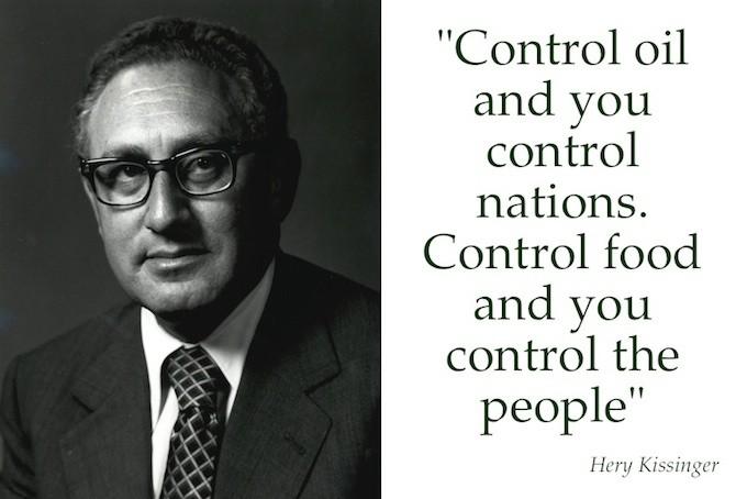 Henry Kissinger e una delle sue democratiche idee sul controllo dell'economia mondiale - foto Creative Commons©