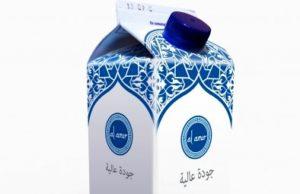 Una confezione di latte laban prodotta e commercializzata in Italia