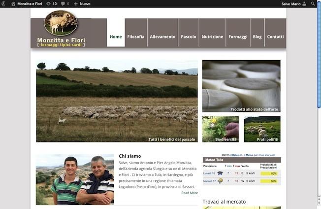 La homepage del nuovo sito di Monzitta e Fiori
