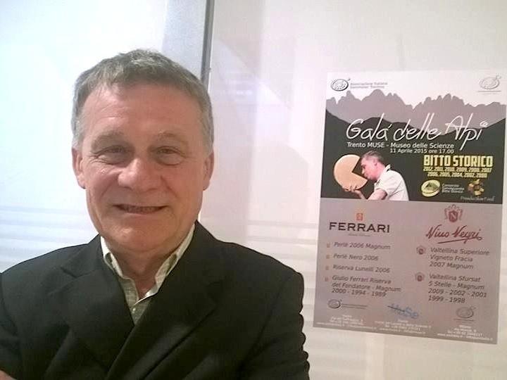 Paolo Ciapparelli al Muse di Trento, dove il Bitto di quindici anni è stato abbinato ai gioielli della Nino Negri e della Ferrari Spumante - foto Bitto storico®