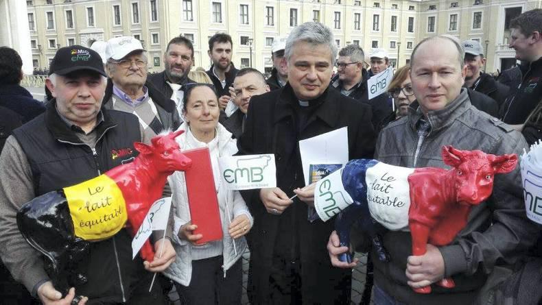 Alcuni allevatori di vari Paesi europei convenuti in Vaticano il 27 gennaio scorso - foto Emb©