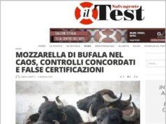 L'articolo di Test Magazine che ha svelato l'ennesimo scandalo legato alla Mozzarella Dop. Connivenze anche ai piani alti del ''Palazzo''