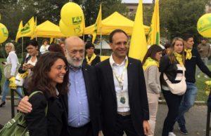 Carlin Petrini con il presidente di Coldiretti Moncalvo - foto Coldiretti©