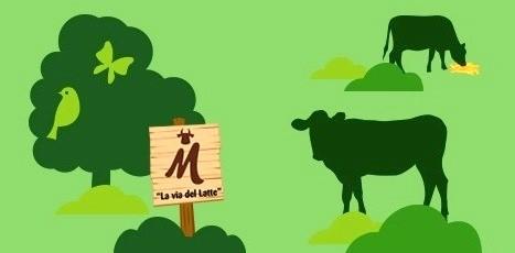 Un'immagine dal sito web lattesostenibile.it della Centrale del Latte della Toscana